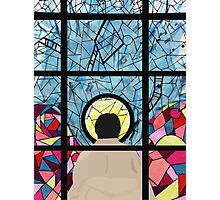 Stained Glass Castiel Photographic Print