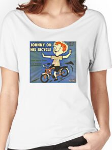Vintage Record Johnny Bike Women's Relaxed Fit T-Shirt