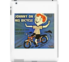 Vintage Record Johnny Bike iPad Case/Skin