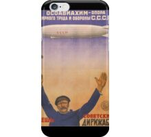 Soviet Russia Zeppelin Poster iPhone Case/Skin