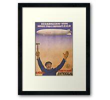 Soviet Russia Zeppelin Poster Framed Print