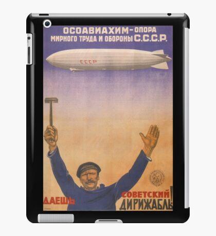 Soviet Russia Zeppelin Poster iPad Case/Skin
