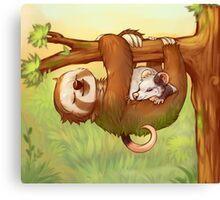 Lazy Tree Friends Canvas Print