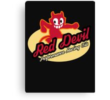 Red Devil Hot Rod logo Canvas Print