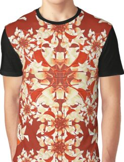 Digital Decorative Floral Pattern Graphic T-Shirt