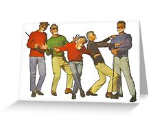 Dancers Record Greeting Card