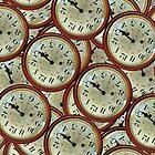 Vintage clocks pattern by DFLC Prints