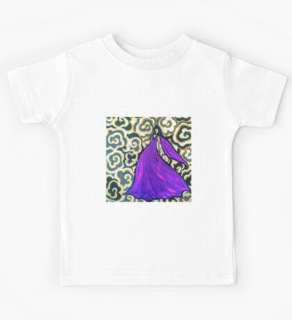 Woman in purple dress Kids Tee
