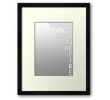 Bastille - Things We Lost In The Fire #2 Framed Print
