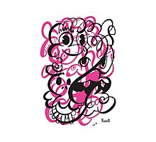 Doodle of the day II – pink version Photographic Print