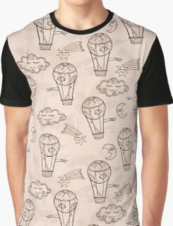 Retro background with hot air balloons Graphic T-Shirt