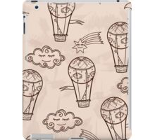 Retro background with hot air balloons iPad Case/Skin