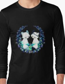 Floral Foxes Long Sleeve T-Shirt