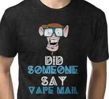 Funny Buck Tooth Nerd Vape Mail Design  Tri-blend T-Shirt