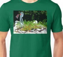 Hart Well Drilling Anniversary Windmill in Rock Garden Unisex T-Shirt