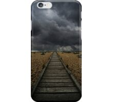 Wooden path in the wilderness iPhone Case/Skin