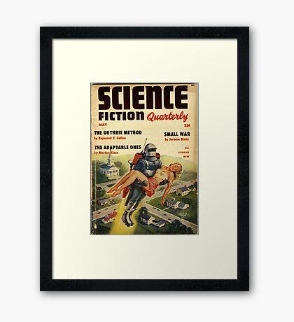 science fiction quarterly magazine Framed Print