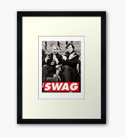 SWAGLOCK Framed Print
