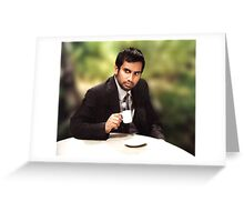 tom haverford Greeting Card