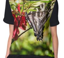 Butterfly on an Azalea Chiffon Top