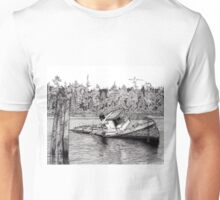 Defying Gravity - The Pine Leaf (Pen and Ink) Unisex T-Shirt