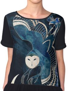 Ageless shadow over an Ancient Moon Chiffon Top