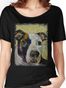 Pit Bull Portrait Women's Relaxed Fit T-Shirt