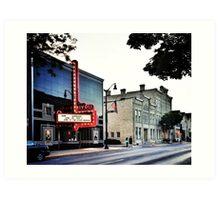 Rivoli Theater & Washington House Inn - Cedarburg WI Art Print