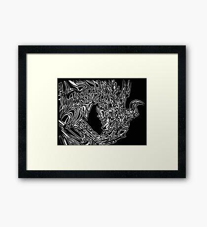 Alduin Dragon - The Elder Scrolls Skyrim Framed Print