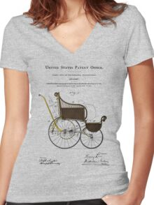 Stroller Patent Women's Fitted V-Neck T-Shirt