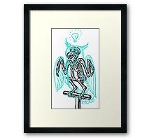 Skeleton of an Owl, with ghostly overlay Framed Print