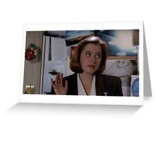 Dana Scully s1 Greeting Card