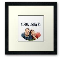 Alpha Delta Pi bff Framed Print