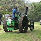 Aveling & Porter Steam Tractor - Rear View by Patricia Howitt