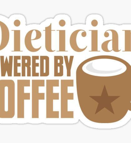 dietician powered by coffee Sticker