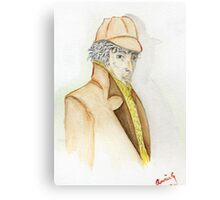 Sherlock Holmes Caricature  Canvas Print
