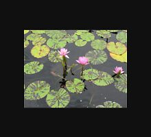 Pink Water Lilies with Tiger Striped Lilypads Unisex T-Shirt