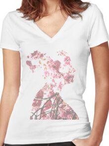 Blossom Women's Fitted V-Neck T-Shirt