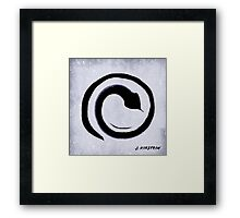 Creative Movement Meditation for the Crown Chakra Framed Print