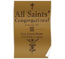 ALL SAINTS CONGREGATIONAL CHURCH PAMPHLET PREACHER Poster