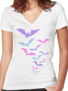 Batstel Women's Fitted V-Neck T-Shirt