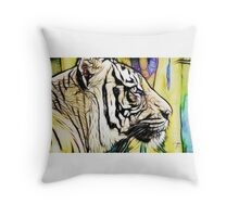 Tiger numero quatro (smaller) Throw Pillow