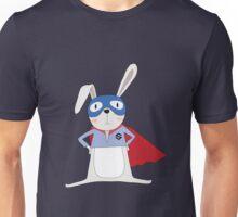 Cute Cartoon Animals Bunny Rabbit Super Hero Unisex T-Shirt