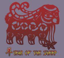 Year of The Sheep Goat Ram Kids Tee