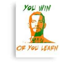 Conor McGregor UFC You Win or You Learn Metal Print