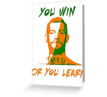 Conor McGregor UFC You Win or You Learn Greeting Card