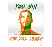 Conor McGregor UFC You Win or You Learn Poster