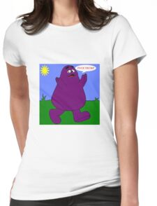 Fuck Trump Grimace  Womens Fitted T-Shirt