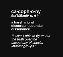 Cacophony Word Nerd Definition Unisex T-Shirt