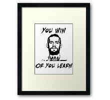 Conor McGregor UFC Black and White T Framed Print
